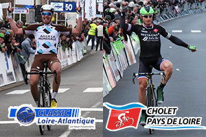 The Classic Loire Atlantique and Cholet-Pays de Loire 2016 race routes on Google Maps