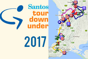 Het parcours van de Tour Down Under 2017 op Google Maps/Google Earth