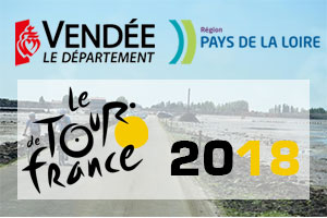 Het Grand Départ van de Tour de France 2018 in de Vendée in Frankrijk