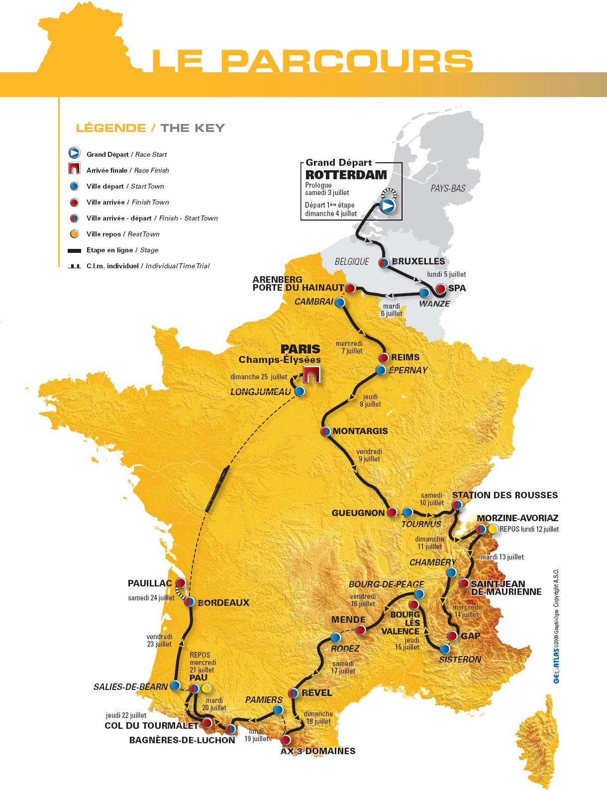Tour de France 2010: the route and the stages :: Blog :: velowire.com (paris.thover.com ...