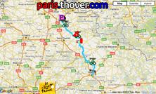 Het parcours van de vierde etappe van de Tour de France 2010 op Google Maps