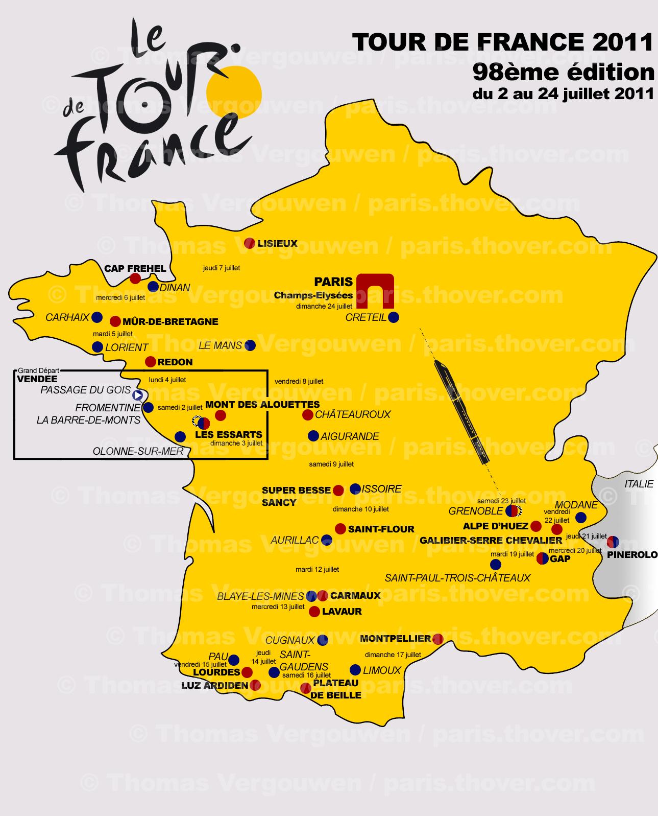 Tour De France 2011 Geruchten Over Het Parcours En De Etappes
