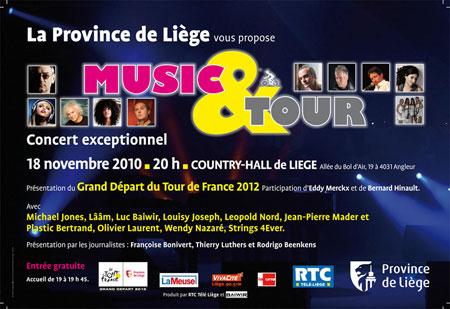 Liège : concert Music & Tour