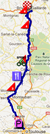 The map with the race route of the eighteenth stage of the Tour de France 2012 on Google Maps
