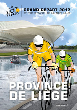 Affiche Grand Départ Tour de France 2012 in Liège