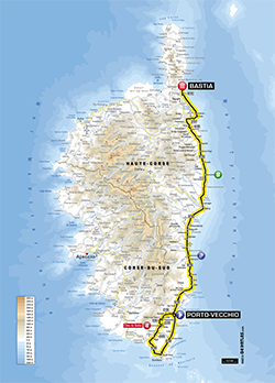 map 1st stage Tour de France 2013 - © ASO