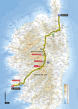 map 2nd stage Tour de France 2013 - © ASO