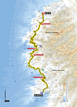 map 3rd stage Tour de France 2013 - © ASO