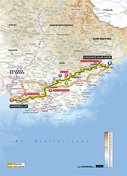 map 5th stage Tour de France 2013 - © ASO