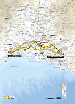 map 6th stage Tour de France 2013 - © ASO