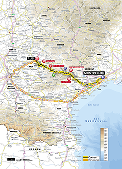 map 7th stage Tour de France 2013 - © ASO
