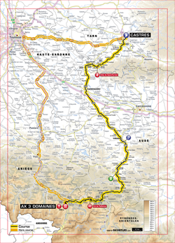 map 8th stage Tour de France 2013 - © ASO
