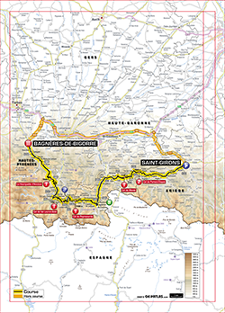 map 9th stage Tour de France 2013 - © ASO