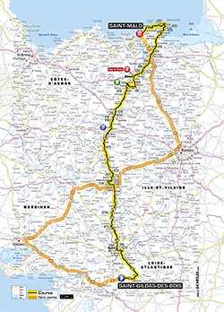 map 10th stage Tour de France 2013 - © ASO