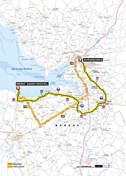 map 11th stage Tour de France 2013 - © ASO