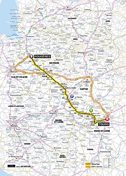 map 12nd stage Tour de France 2013 - © ASO