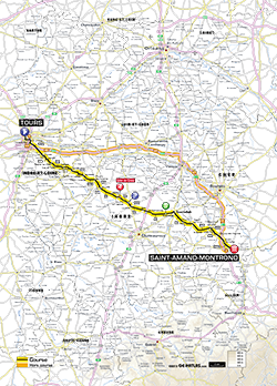 map 13rd stage Tour de France 2013 - © ASO