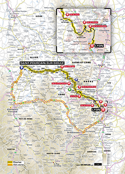 map 14th stage Tour de France 2013 - © ASO