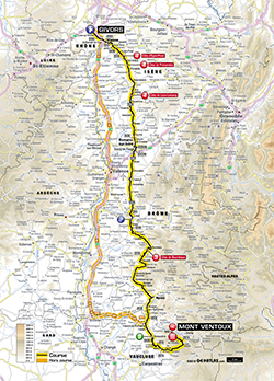 map 15th stage Tour de France 2013 - © ASO