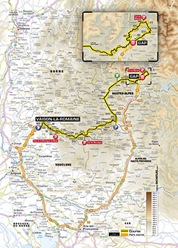 map 16th stage Tour de France 2013 - © ASO