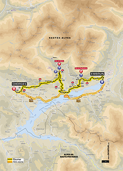 map 17th stage Tour de France 2013 - © ASO