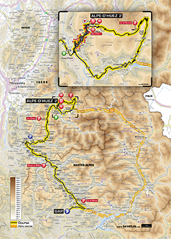 map 18th stage Tour de France 2013 - © ASO