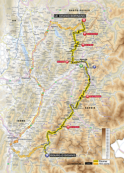 map 19th stage Tour de France 2013 - © ASO