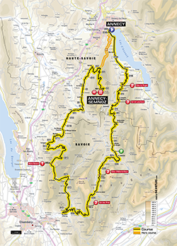 map 20th stage Tour de France 2013 - © ASO