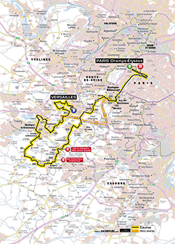 map 21st stage Tour de France 2013 - © ASO