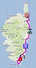 La carte du parcours de la première étape du Tour de France 2013 sur Google Maps