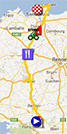 The map with the race route of the tenth stage of the Tour de France 2013 on Google Maps