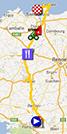 La carte du parcours de la dixième étape du Tour de France 2013 sur Google Maps