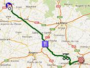 La carte du parcours de la douzième étape du Tour de France 2013 sur Google Maps