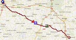 La carte du parcours de la treizième étape du Tour de France 2013 sur Google Maps