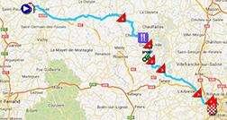 La carte du parcours de la quatorzième étape du Tour de France 2013 sur Google Maps