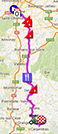 The map with the race route of the fifteenth stage of the Tour de France 2013 on Google Maps