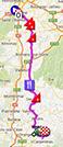 La carte du parcours de la quinzième étape du Tour de France 2013 sur Google Maps
