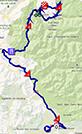 La carte du parcours de la dix-huitième étape du Tour de France 2013 sur Google Maps