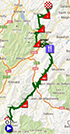 The map with the race route of the nineteenth stage of the Tour de France 2013 on Google Maps