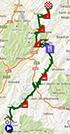 La carte du parcours de la dix-neuvième étape du Tour de France 2013 sur Google Maps