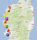 La carte du parcours de la troisième étape du Tour de France 2013 sur Google Maps