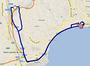 La carte du parcours de la quatrième étape du Tour de France 2013 sur Google Maps