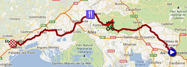 La carte du parcours de la sixième étape du Tour de France 2013 sur Google Maps