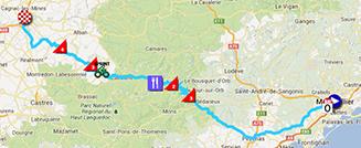 La carte du parcours de la septième étape du Tour de France 2013 sur Google Maps