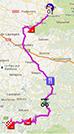 La carte du parcours de la huitième étape du Tour de France 2013 sur Google Maps