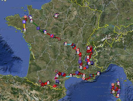The Tour de France 2013 race route on Google Maps/Google Earth ...