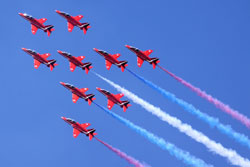 De Royal Air Force Red Arrows - © Airwolfhound, licence Creative Commons