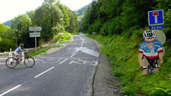 At the foot of the climb towards La Planche des Belles Filles - © mcmrbt, Creative Commons licence