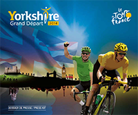 The cover of the press map for the Grand Départ of the Tour de France 2014