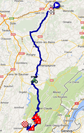 The map with the race route of the eleventh stage of the Tour de France 2014 on Google Maps